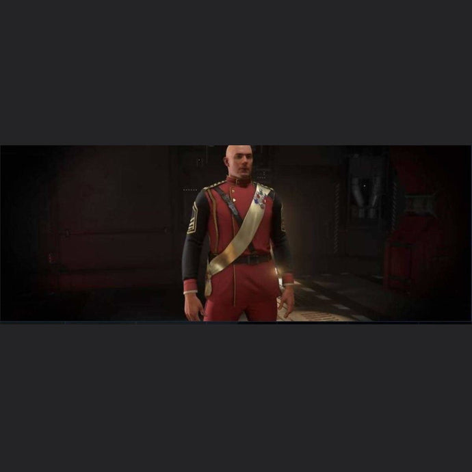 SECOND TEVARIN WAR RED DRESS UNIFORM | Might | Space Foundry Marketplace.