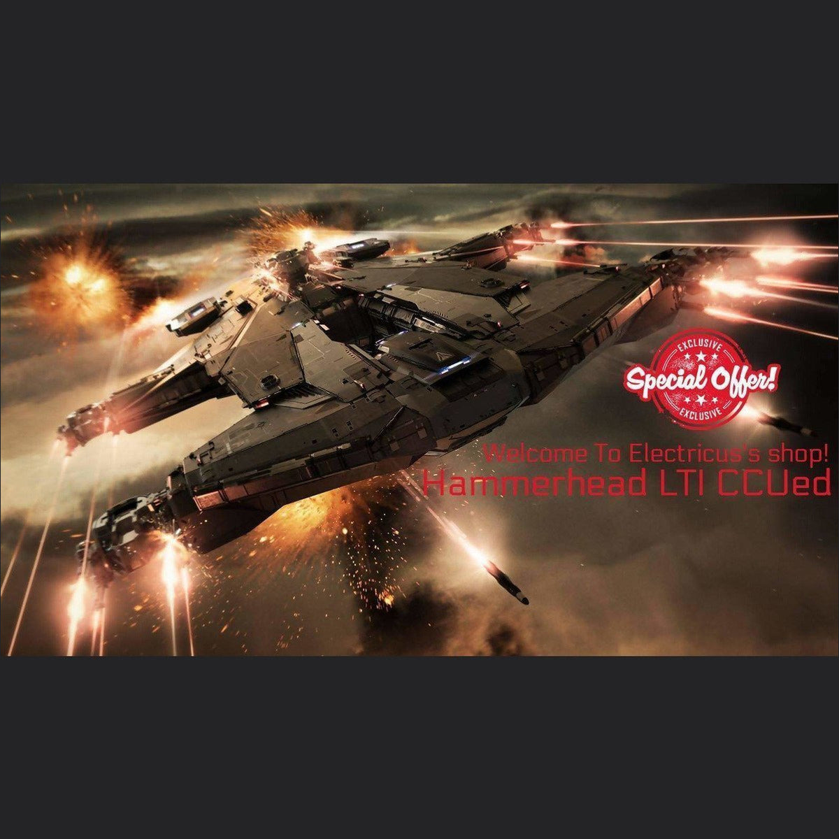 Hammerhead LTI CCUed | Official Store by Electricus | Space Foundry Marketplace