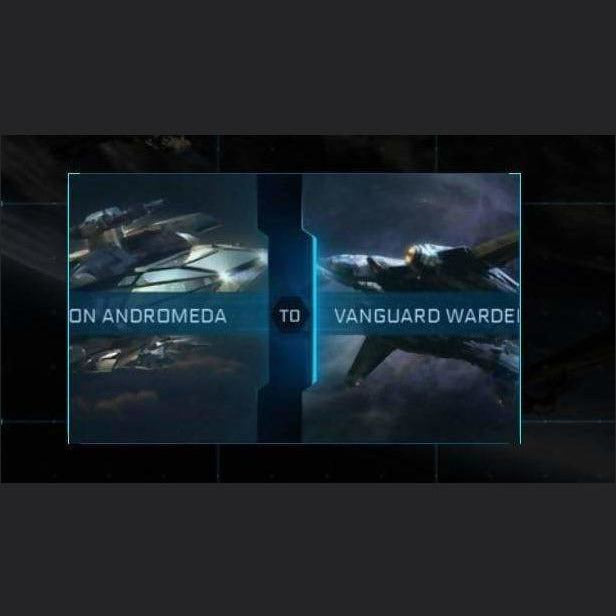 Constellation Andromeda to Vanguard Warden | Upgrade | Might | Space Foundry Marketplace.
