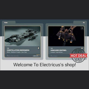 Andromeda to Vanguard Sentinel Upgrade CCU | Upgrade | Official Store by Electricus | Space Foundry Marketplace.
