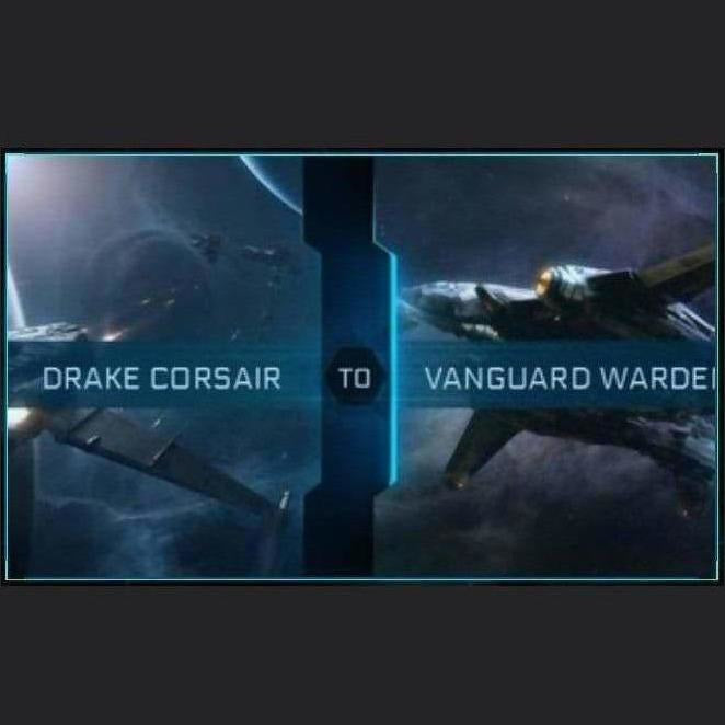 Corsair to Vanguard Warden | Upgrade | Might | Space Foundry Marketplace.