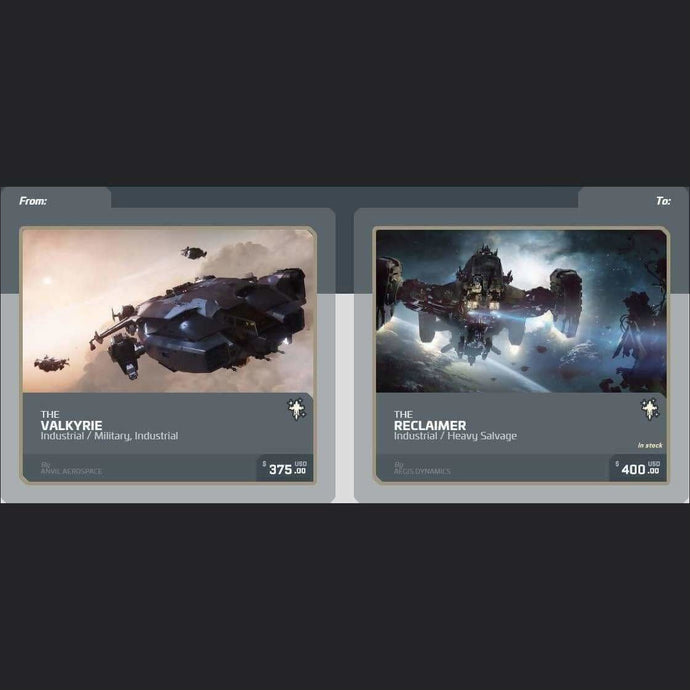UPGRADE - VALKYRIE TO RECLAIMER | Upgrade | JPEGS STORE | Space Foundry Marketplace.