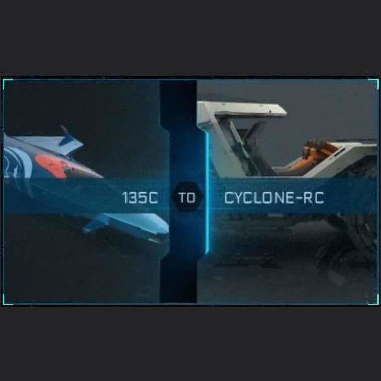 135c to Cyclone-RC | Might | Space Foundry Marketplace