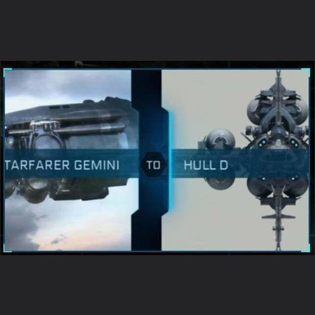 Starfarer Gemini to Hull D | Might | Space Foundry Marketplace
