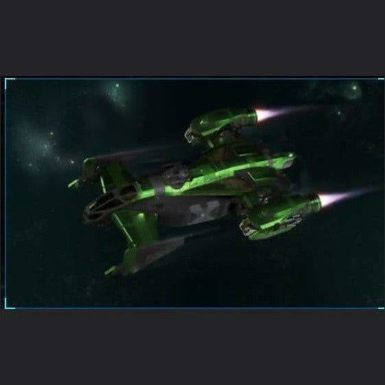 Cutlass Black w/ Green Paint | Standalone Original Concept Ship | Games Kingdom | Space Foundry Marketplace.