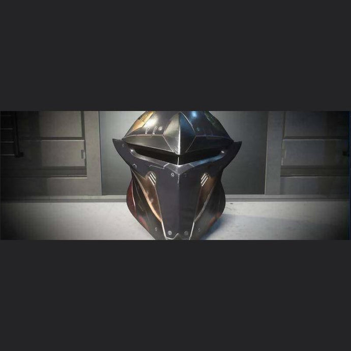 SAVIOR COLLECTION 'NIGHTFIRE' PALADIN HELMET | GANJALEZZ JPEGs STORE | Space Foundry Marketplace