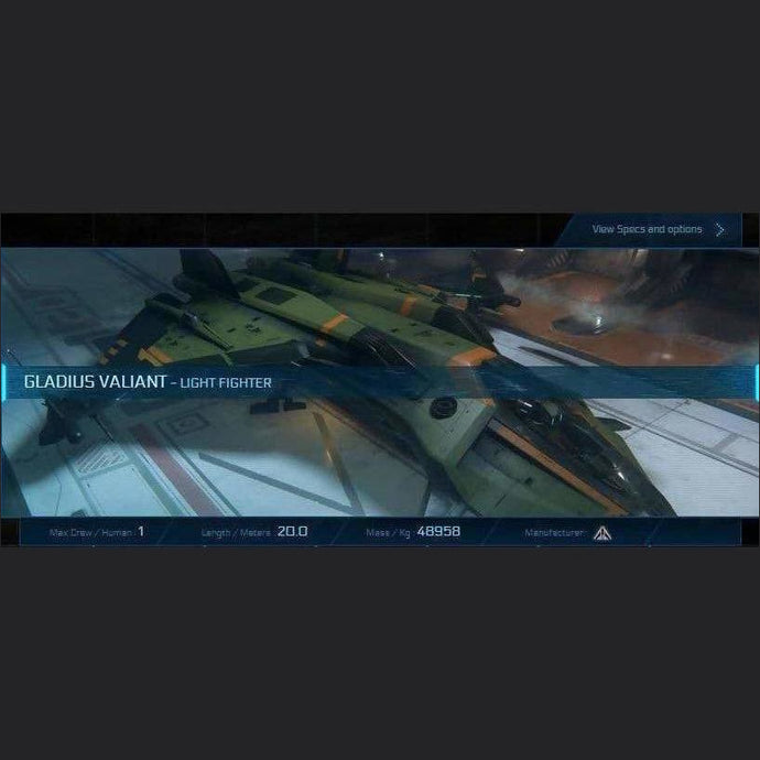 GLADIUS VALIANT - LTI - CCUed | GANJALEZZ JPEGs STORE | Space Foundry Marketplace