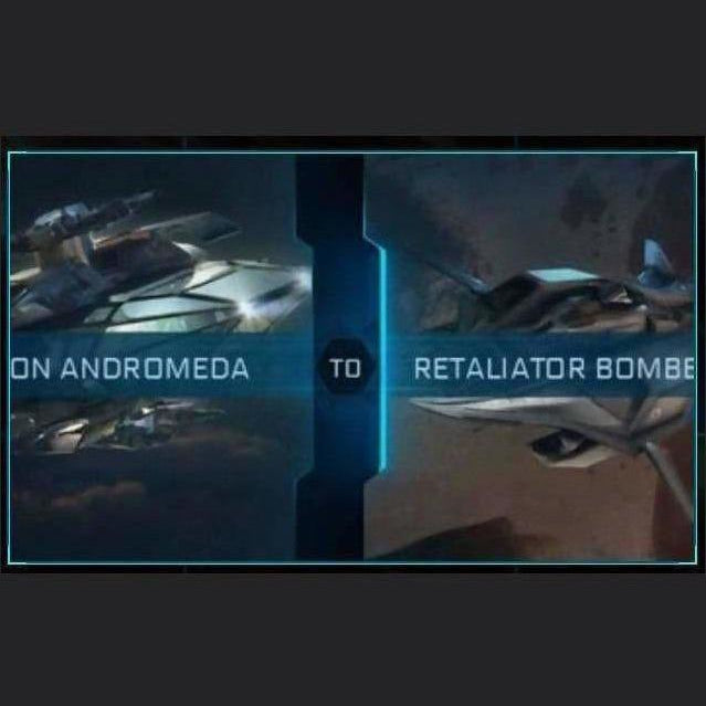 Constellation Andromeda to Retaliator Bomber | Upgrade | Might | Space Foundry Marketplace.