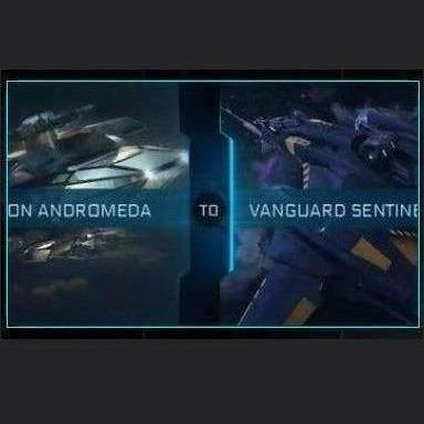 Constellation Andromeda to Vanguard Sentinel | Upgrade | Might | Space Foundry Marketplace.