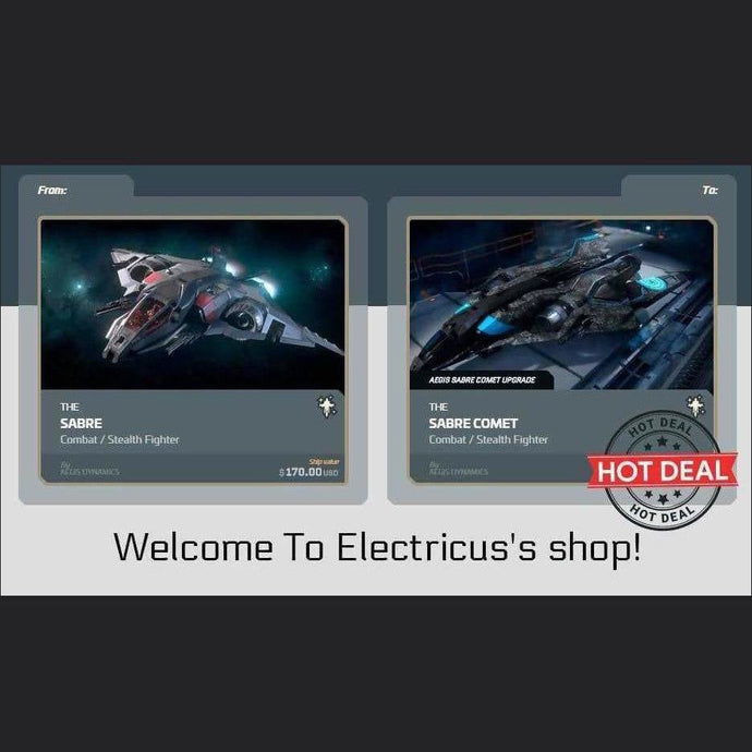 Sabre to Sabre Comet Upgrade | Upgrade | Official Store by Electricus | Space Foundry Marketplace.