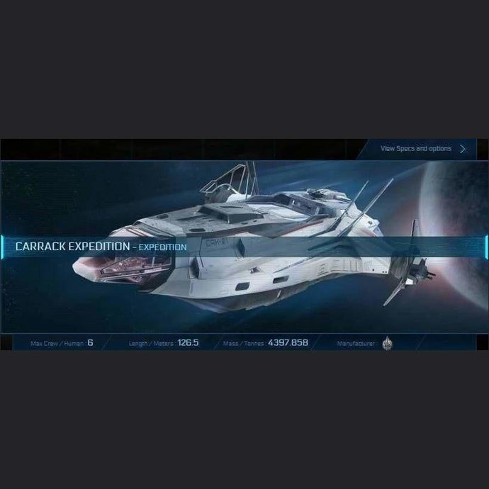 CARRACK EXPEDITION - LTI - CCUed | Standalone CCU'd Ship | JPEGS STORE | Space Foundry Marketplace.