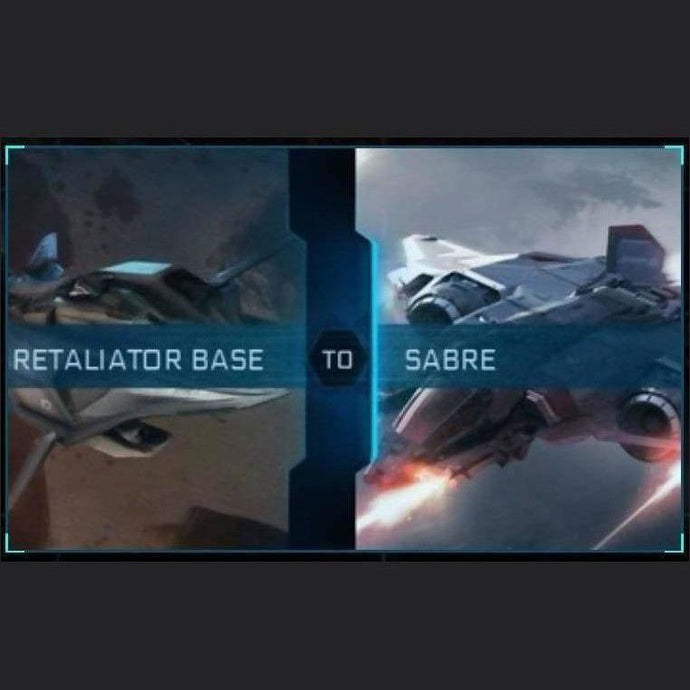Retaliator Base to Sabre | Upgrade | Might | Space Foundry Marketplace.