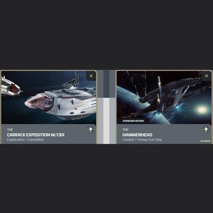 UPGRADE - CARRACK EXPEDITION W/C8X TO HAMMERHEAD | Upgrade | JPEGS STORE | Space Foundry Marketplace.