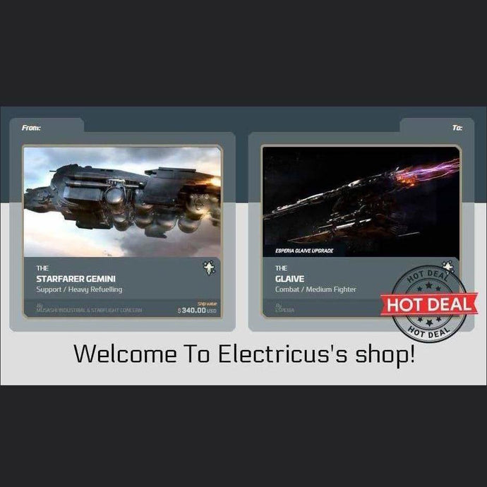 Starfarer Gemini to Esperia Glaive Upgrade | Upgrade | Official Store by Electricus | Space Foundry Marketplace.