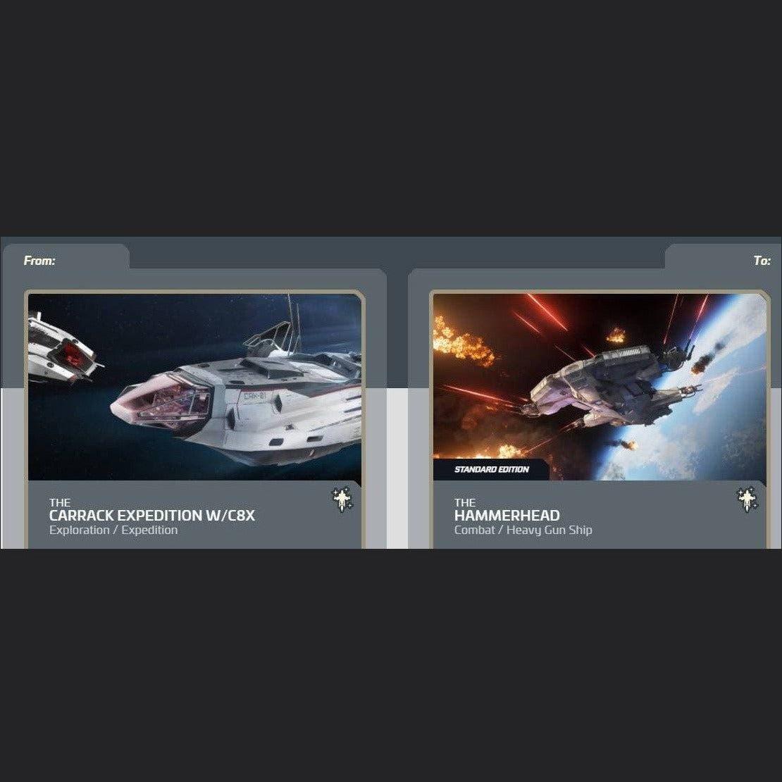 Carrack Expedition w C8X to Hammerhead Standard Edition | Upgrade | Jpeg_Warehouse | Space Foundry Marketplace.