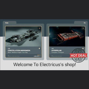 Andromeda to Caterpillar CCU Upgrade | Upgrade | Official Store by Electricus | Space Foundry Marketplace.