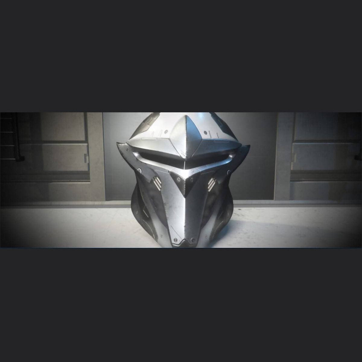 SAVIOR COLLECTION 'ICEBORN' PALADIN HELMET | Add-On | Might | Space Foundry Marketplace.