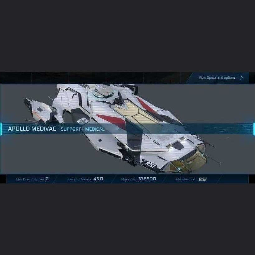 APOLLO MEDIVAC - LTI - WARBOND | Standalone Original Concept Ship | JPEGS STORE | Space Foundry Marketplace.