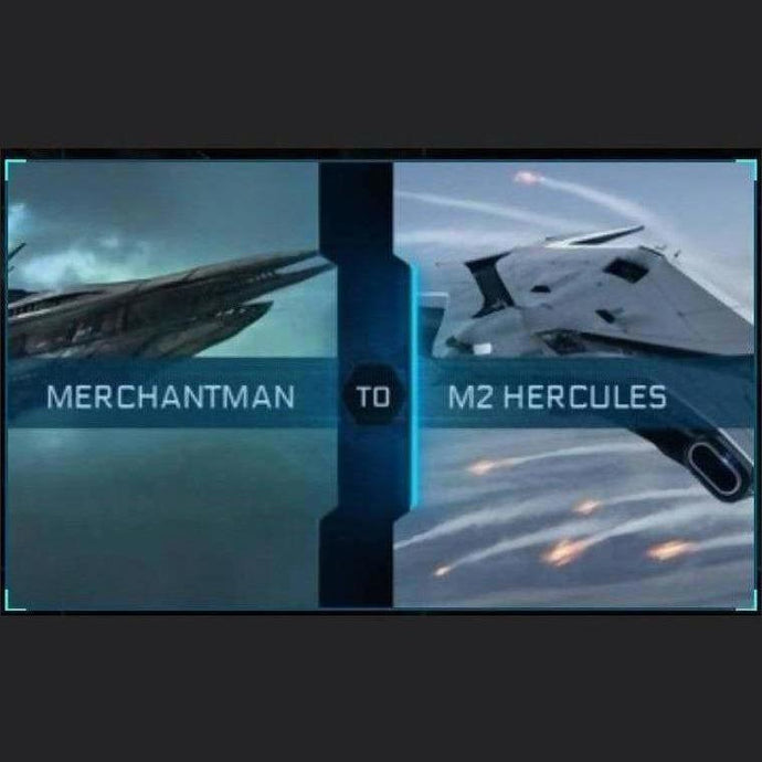 Merchantman to M2 Hercules | Upgrade | Might | Space Foundry Marketplace.