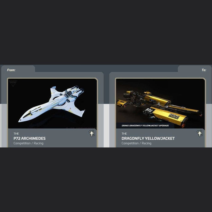 P72 Archimedes to Dragonfly Yellowjacket | Upgrade | Might | Space Foundry Marketplace.