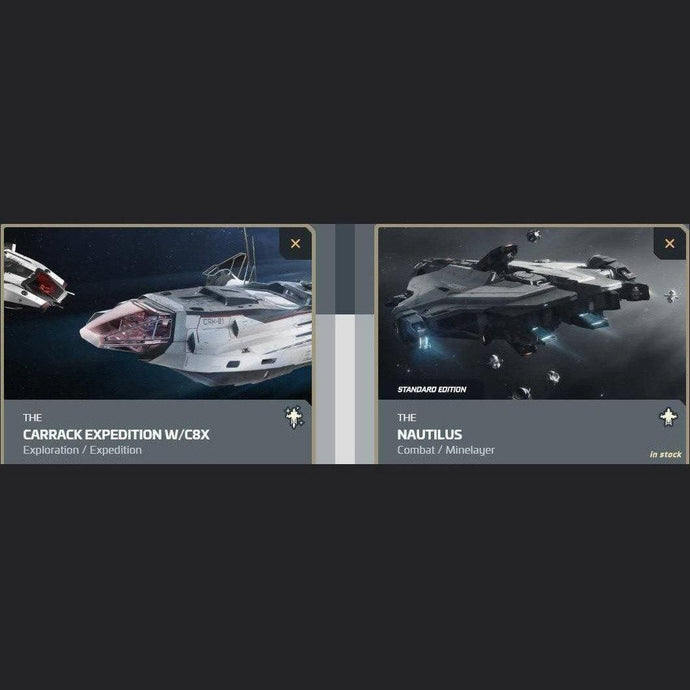 UPGRADE - CARRACK EXPEDITION W/C8X TO NAUTILUS | Upgrade | JPEGS STORE | Space Foundry Marketplace.