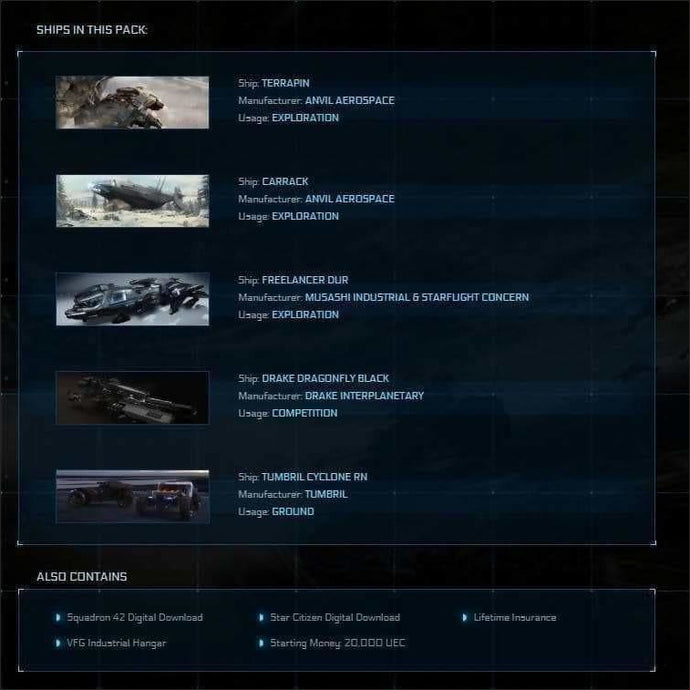 Game Package w/ SQ42 | JPEGS STORE | Space Foundry Marketplace.