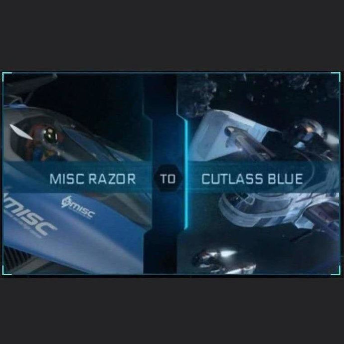 Razor to Cutlass Blue | Upgrade | Might | Space Foundry Marketplace.