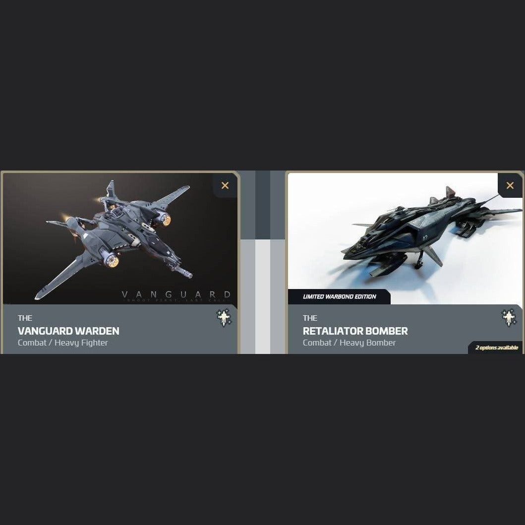 UPGRADE - VANGUARD WARDEN TO RETALIATOR BOMBER (120m) | Upgrade | JPEGS STORE | Space Foundry Marketplace.