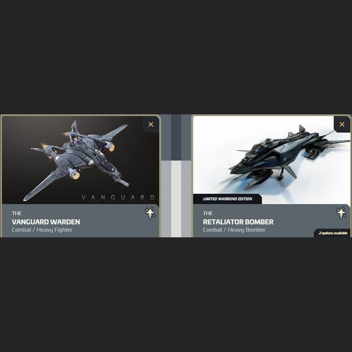 UPGRADE - VANGUARD WARDEN TO RETALIATOR BOMBER | Upgrade | JPEGS STORE | Space Foundry Marketplace.