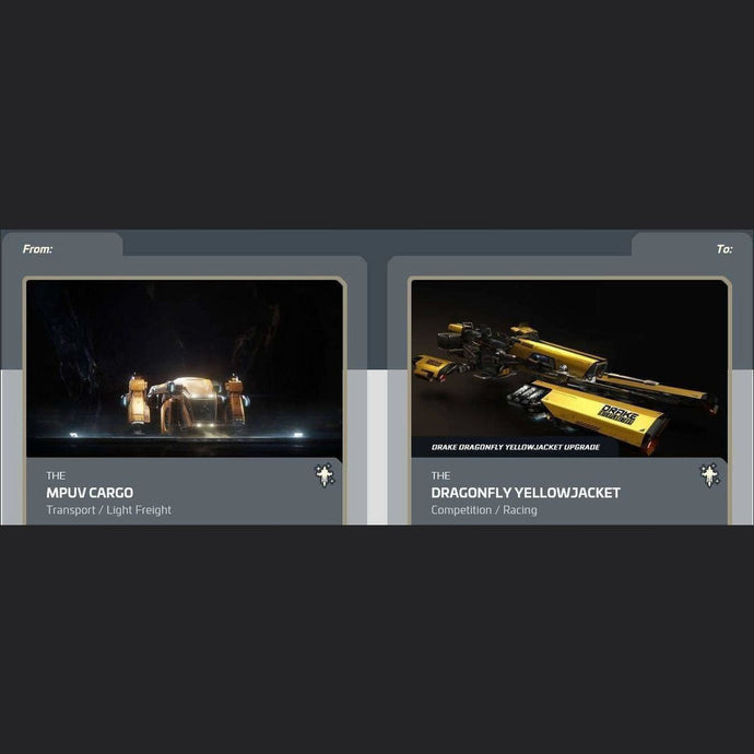 MPUV Cargo to Dragonfly Yellowjacket | Upgrade | Might | Space Foundry Marketplace.