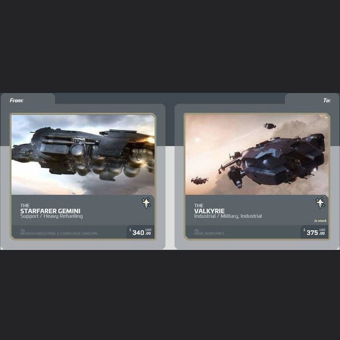 UPGRADE - STARFARER GEMINI TO VALKYRIE | Upgrade | JPEGS STORE | Space Foundry Marketplace.
