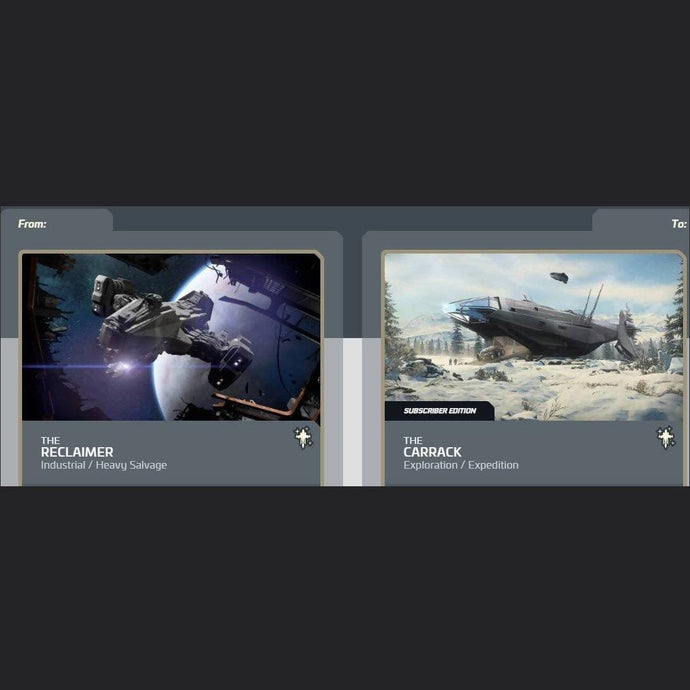 Reclaimer to Carrack Subscriber Edition | Upgrade | Jpeg_Warehouse | Space Foundry Marketplace.