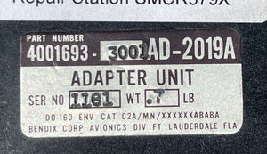 Adapter Unit P/N: AD-2019A. P/N: 4001693-3001. 14/28v