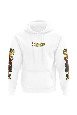 2HYPE Rose White Hoodie