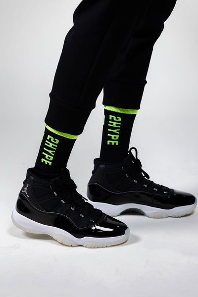 2HYPE Black/Volt Socks