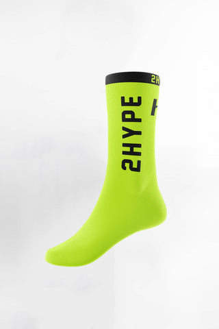 2HYPE Volt/Black Socks