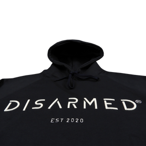 Oversize 3D Embroidered Hoodie - Navy Blue