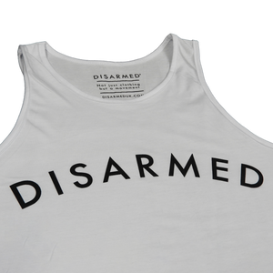 Disarmed Gym Tank - White