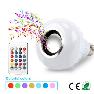 Smart E27 RGB Bluetooth Speaker LED Bulb Light