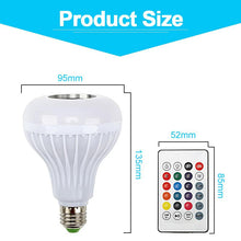 Load image into Gallery viewer, Smart E27 RGB Bluetooth Speaker LED Bulb Light