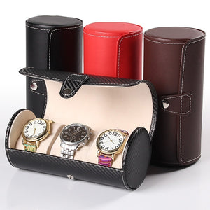 Luxury Watch Display Gift Box Case 3 Roll