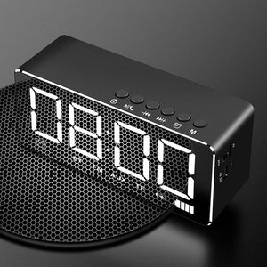 Home Mirror Alarm Clock Speaker Wireless Mobile Mini