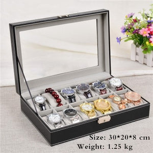 European Style Black Watch Storage Box