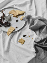 Load image into Gallery viewer, Border Table Napkins In Slate-Table Linen-Sheets on the Line