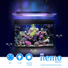 Laden Sie das Bild in den Galerie-Viewer, Sea Nemo Glass 2 110 W Programmierbar Meerwasser Korallen (B-Ware) (123594612)
