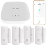 4 Pack YoLink Smart Window Door Sensors, YoLink Hub Included