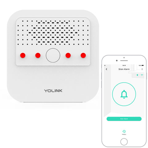 YoLink Smart Siren Alarm Works with Alexa, Google Assistant, and IFTTT, YoLink Hub Required