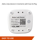 4 Pack YoLink Smart Water Leak Sensors, YoLink Hub Included