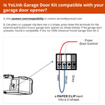 YoLink Smart Garage Door Kit 1 with Hub - Garage Door Controller & Garage Door Sensor & YoLink Hub