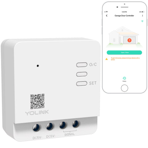 YoLink Smart Garage Door Controller - YoLink Hub Required